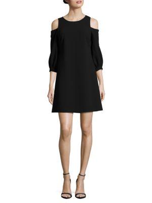 Cold Shoulder A-Line Dress by Eliza J