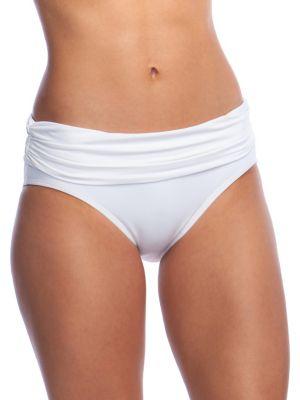 Shirred Hipster Bikini Bottom by Lauren Ralph Lauren