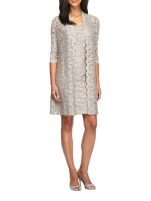 Lace Jacket Sheath Dress by Alex Evenings