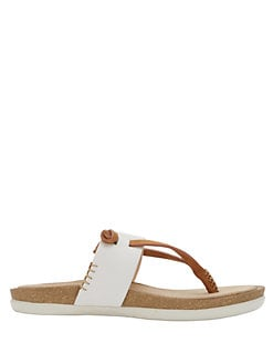 0392ca363cdf Shannon Leather Thong Sandals WHITE. Product image. QUICK VIEW. G.H. Bass
