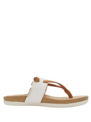 Shannon Leather Thong Sandals by G.H. Bass