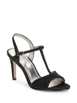 Alia Embellished T-Strap Sandals by Adrianna Papell