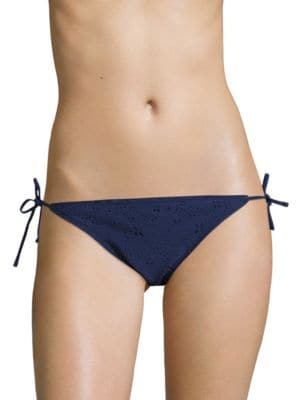 Textured Side-Tie Bikini Bottom by Design Lab Lord & Taylor