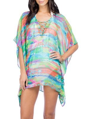 Printed Lace-Up Tunic by Lauren Ralph Lauren