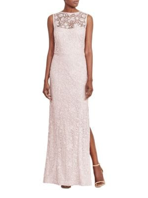 Lace Open-Back Gown by Lauren Ralph Lauren