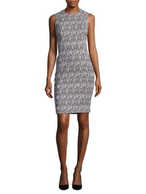 Textured Knit Sheath Dress by Calvin Klein