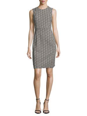 Patterned Knit Sheath Dress by Calvin Klein