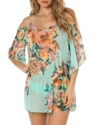 High Tea Cold Shoulder Tunic by Becca Swim