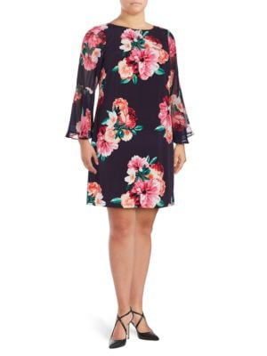 Floral Printed Dress by Theia