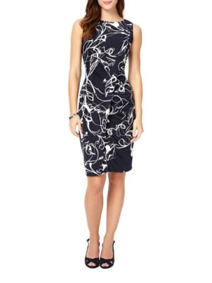 Clara-Mae Printed Ruched Dress by Phase Eight