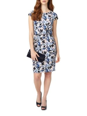 Pansy Floral-Print Silk-Blend Dress by Phase Eight