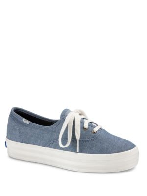Triple Canvas Low-Top Sneakers by Keds