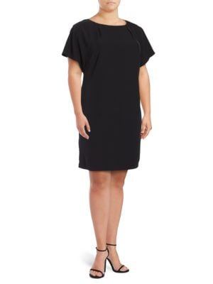 Plus Size Solid Fitted Dress by Calvin Klein Plus