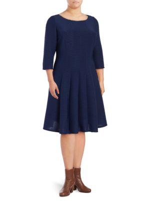 Pintuck Roundneck Dress by Gabby Skye