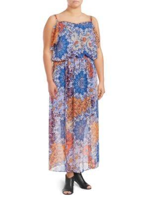 Plus Floral Blouson Dress by London Times