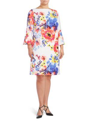 Floral-Print Shift Dress by Gabby Skye