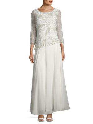 Sequin-Embellished Gown by J Kara
