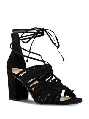 Photo of Genie Suede Lace-Up Sandals by Nine West - shop Nine West shoes sales