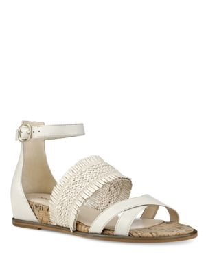 Vernell Open-Toe Leather Sandals by Nine West