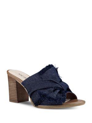 Byron Denim Sandals by Nine West