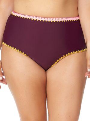 Woodstock High Waist Bikini Bottom by Jessica Simpson Plus