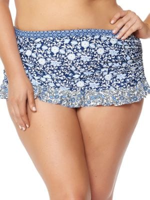 Patched Up Ruffled Skirted Bottom by Jessica Simpson Plus