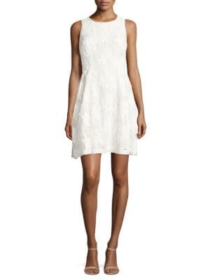 Sleeveless Lace Fit-&-Flare Dress by Tahari Arthur S. Levine