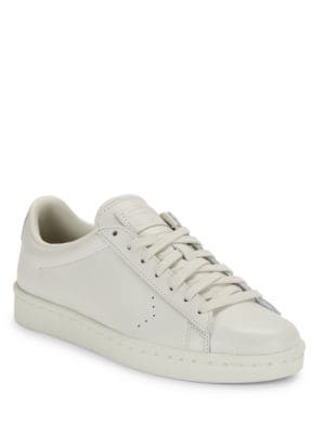 Unisex Leather Lace-Up Sneakers by Converse