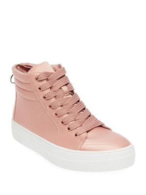 Golly Satin Platform Sneakers by Steve Madden