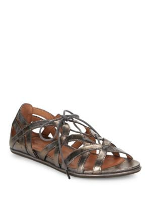 Oona Lace-Up Leather Sandals by Gentle Souls