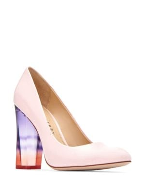 Block-Heel Leather Pumps by Katy Perry