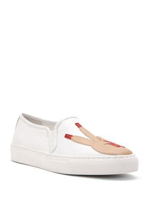 Peace Slip-On Nappa Leather Sneakers by Katy Perry