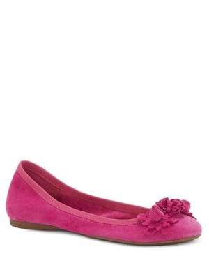Meciah Embellished Suede Ballet Flats by Jessica Simpson