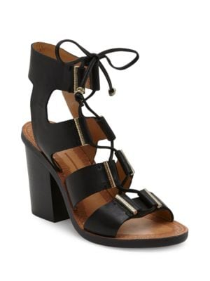 Witley Calf Hair Ghillie Lace Sandals by Dolce Vita