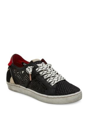 Zpunk Lace-Up Calf Hair Sneakers by Dolce Vita