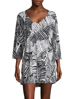 Printed Soft V-Neck Dress by J Valdi