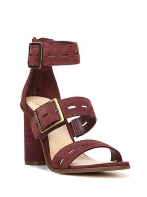 Fame Cutout Suede High-Heel Sandals by Fergie
