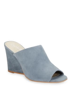 Affirmation Nubuck Open Toe Mules by Seychelles