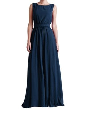 Tori Pleated A-Line Dress by Paper Crown
