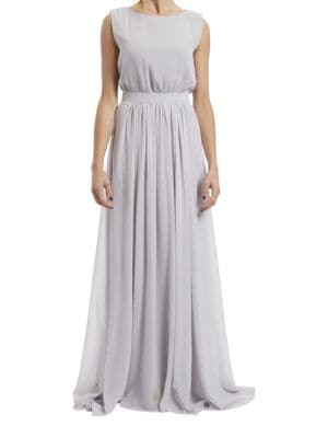 Tori Sleeveless Empire Gown by Paper Crown