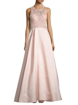 Satin Embellished Ball Gown by Xscape