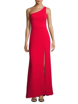 One-Shoulder A-Line Gown by Xscape