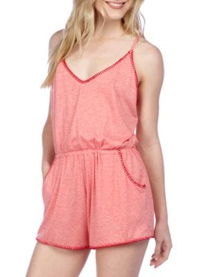 Sleeveless Cotton Heathered Jumpsuit by Lucky Brand
