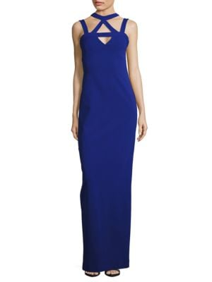 Cutout Sheath Gown by Nicole Miller