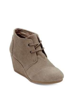 Desert Suede Wedge Booties by TOMS