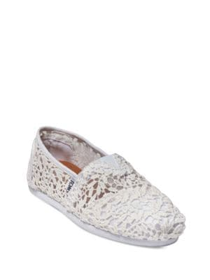 Seasonal Classic Slip-On Lace Flats by TOMS