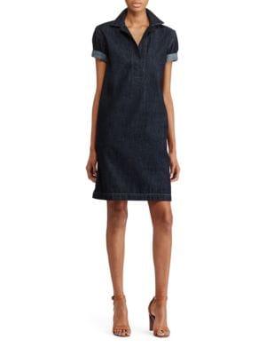 Petite Petite Denim Shift Dress 500034751149