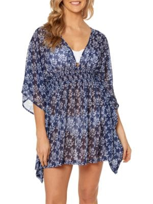 Vine About It Chiffon Cover-Up by Jessica Simpson