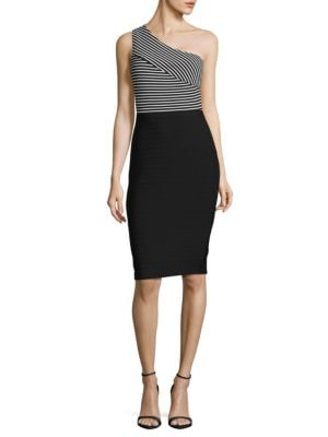 Striped One-Shoulder Dress by Guess