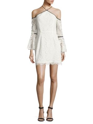 Lace Cold-Shoulder Sheath Dress by Wayf